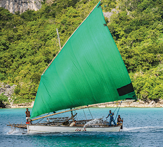 HEX is a large sailau that can hold 20 people