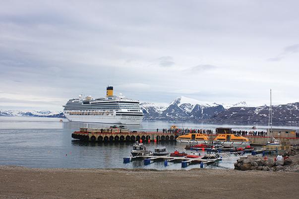 Guest harbor in NY Alesund