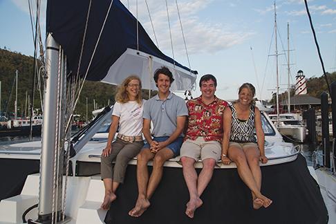 Crew left to right, Gail, Jason, Darren and Salwa