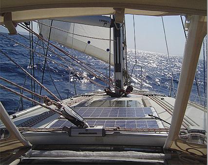 Marlec solar on boat