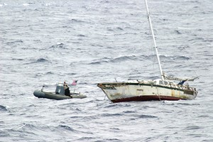USCG-USN COORDINATE FOR RESCUE AT SEA