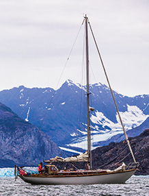 Celeste approaches Columbia Glacier