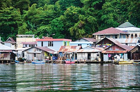 Stilt houses in Jayapura