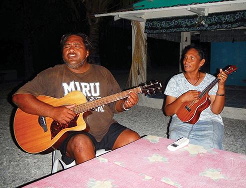 Rio and Kula entertaining us one evening