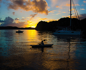 Jim takes off for a sunset paddle
