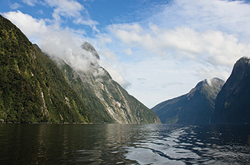 Mitre Peak at the head of Milford Sound