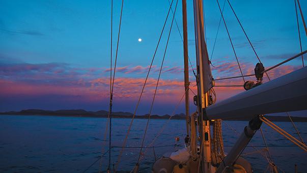 Dawn arrival at Pt Pegasus on Stewart Island