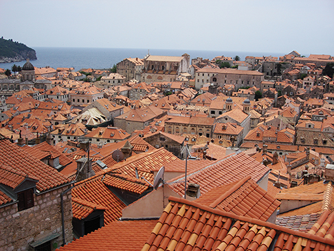 tiled roofs of Dubrovnik