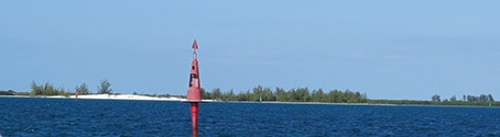 Above; the buoys became confused when two routes intersected. Or maybe it was us. The view was distracting. @B.Rumrill