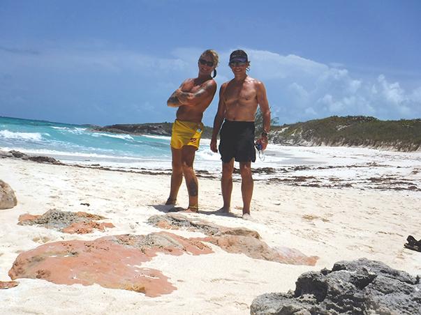 Boys in Bahamas cruising mode