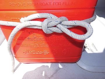 Square Knot with Quick Release Loop