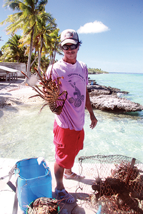 The reefs are not just there to damage your boat; they are home to some good eating, too