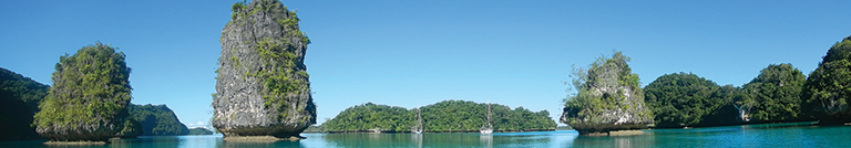 A spectacular anchorage in Vanua Mbalavu's Bay of Islands