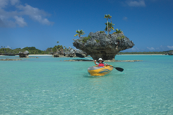 A kayak is a great way to explore Fiji's anchorages
