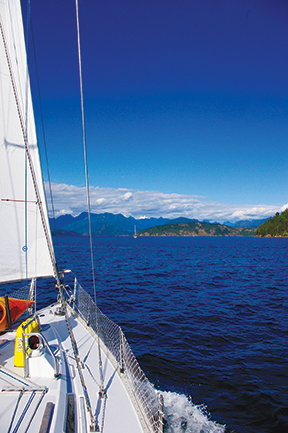Sailing into Homfray Channel towards Desolation Sound
