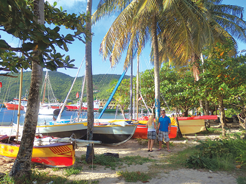 Colorful boats in Bequia